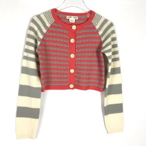ANTHROPOLOGIE Sunset Sails Striped Cardigan Small